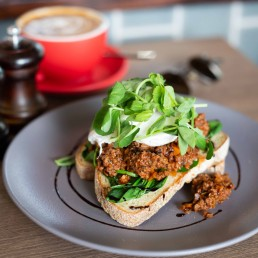 Savoury Mince on Toast with Poached Eggs