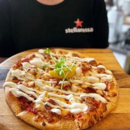 Hand-stretched Pizza at Stellarossa Coolum Beach